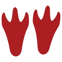LiteMark Red Removable Dinosaur Tracks Decal Stickers - Pack of 12 - $19.95