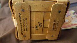 Longaberger 1998 HORIZON OF HOPE Basket Breast Cancer Awareness With Protector  image 4