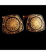 Damascene Cufflinks set - Vintage Wedding groom cufflinks -  24kt gold k... - $110.00