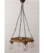 Wagon Wheel Mason jar Hanging Chandelier light - $269.95
