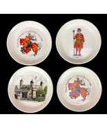 Vintage English Souvenir Pin Trays Warwick Beefeater Department of Envir... - $22.21
