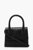 Croc Structured Handle Women Cross Body Bag - $36.25