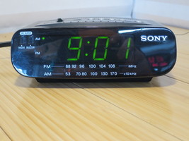 Sony Dream Machine Alarm Clock Radio AM FM Green LED ICF-C212 Tested & Working - $18.49