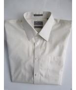 John W. Nordstrom Trim Fit Solids Men's Dress Shirt Cornsilk 17.5 | 31 M... - $45.21