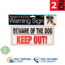 2-PACK Beware of the Dog Sign Keep Out Warning w/Screws SAME-DAY FREE SHIP - $5.68