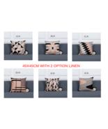 Cushion Cover Decorative Pillows Case Gray Geometric Cushions Covers Hom... - $8.15+