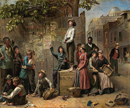 Young America Civil War Time 1863 American Painting By Thomas Le Clear Repro - $10.96+