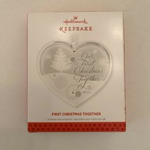 Hallmark Keepsake Ornament First Christmas Together 2013 Glass Heart - $16.95