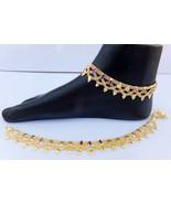 ANKLET BRACELET 22k GOLD PLATED PAYAL SET BOLLYWOOD Fashion INDIAN JEWEL... - $18.53