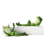 Frog Statuary Polyresin Selfie Frog Lipstick & Chillin Frog with Sunglasses - $45.99