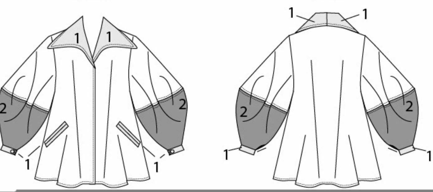 Vogue Pattern 9368/10109 Misses Jacket Julio Cesar S M L