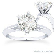 Forever Brilliant Round Cut Moissanite 14k White Gold Solitaire Engagement Ring - €567,48 EUR - €1.830,61 EUR