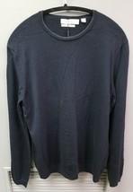 Men's Calvin Klein Merino Wool Crew-Neck Sweater, Navy Blue, Med - $28.31