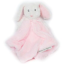 Blankets & Beyond Bunny Rabbit Lovey Pink White Soft Security Blanket Pl... - $25.63