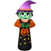 Halloween Inflatable 4' Trick or Treat Happy Witch Airblown Decoration - $34.41