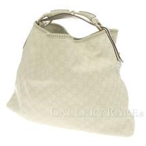 GUCCI Guccissima Horsebit Leather Ivory 114900 Shoulder Bag Authentic 53... - $555.57