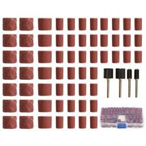 100pcs 60/120/320 Grit Drum Sanding Kit Fit D. Rotary Tools with 1/2 1/4... - $8.99