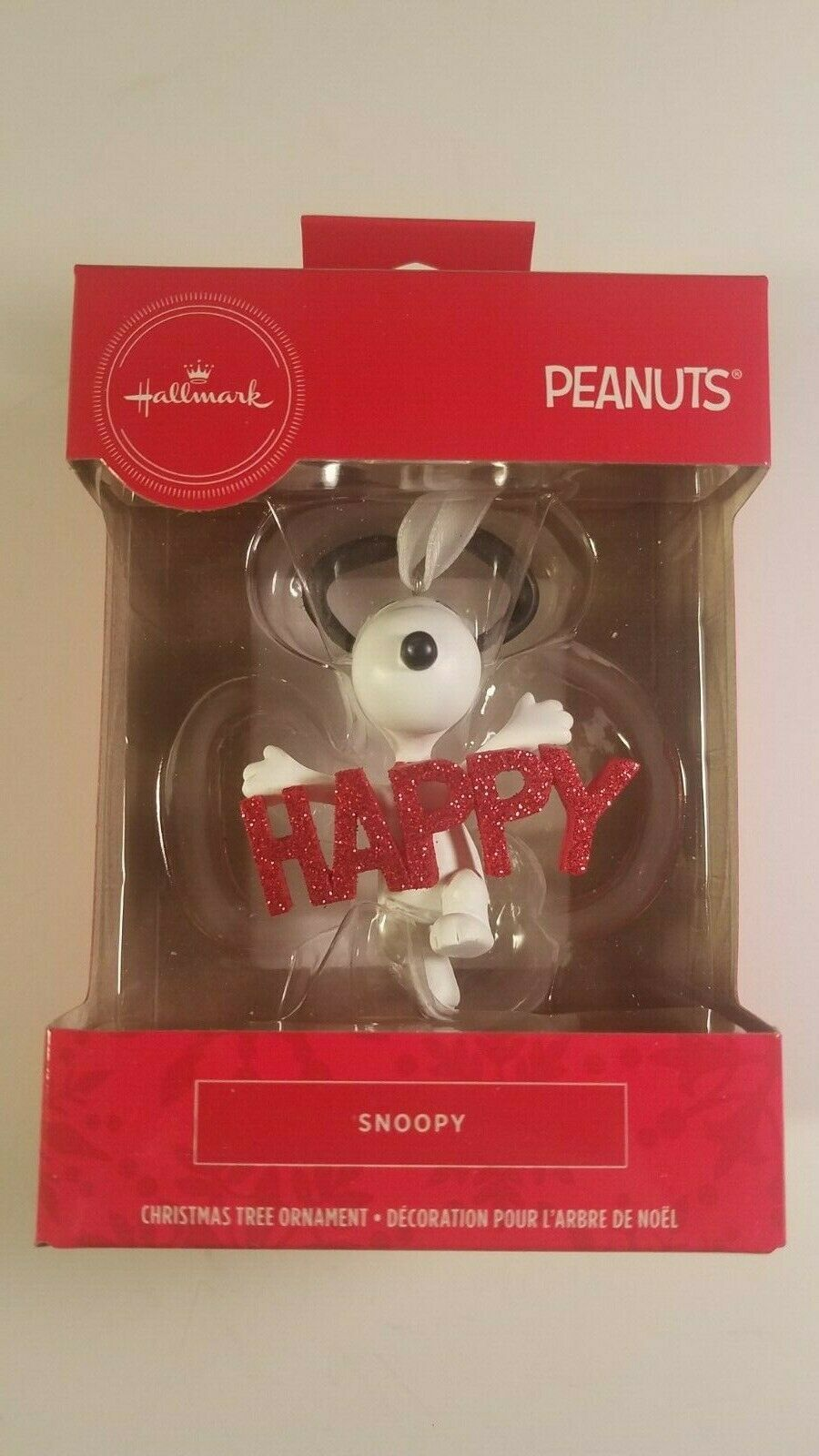 Primary image for hallmark ornament snoopy happy peanuts christmas tree decor new in box