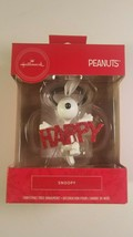 hallmark ornament snoopy happy peanuts christmas tree decor new in box  - $22.00