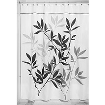 "InterDesign 35623 Leaves Fabric Shower Curtain - Stall, 54"" x 78"", Black - $14.96"