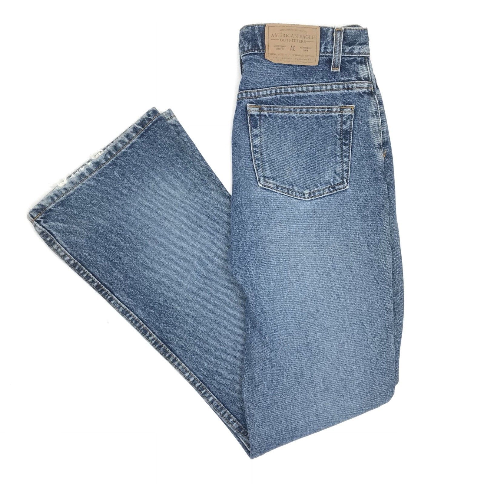 bc3f7c11a4c American Eagle Button Fly Jeans Women Size 2 Regular Straight Leg - $20.00
