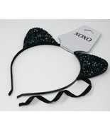 Cat Ears Headband, New Year, Halloween Party Accessory, Color Black - $16.99