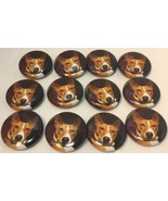 "Set Of 12""Red Basenji Face"" Fridge Magnets/ 12 Aimants A Frigo ""Basenji ... - $14.05"