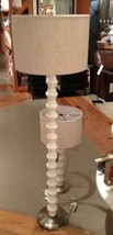 Pottery Barn Stacked Stone Floor Lamp Ivory Sofa Spindle Light Contempor... - $499.00