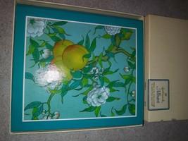 "Vintage Hallmark Album/Journal/Diary/Notebook ""Oriental"" Peach Blossoms - $17.80"