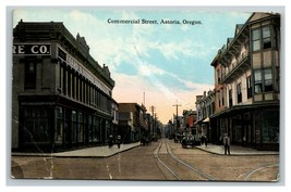 Vintage Early 1900's Postcard Commercial Street Astoria Oregon POSTED - $15.81