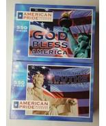 Set of 2 Milton Bradley American Pride Puzzles Lincoln Statue Liberty 55... - $29.69