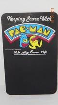 Vintage Pac-Man Arcade Keeping Score Chalkboard Sign Super Rare 1980 Mid... - $93.50