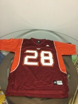 Virginia Tech Hokies Adidas Football Jersey #28 Youth Large Excellent Co... - $19.79