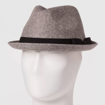 NEW Goodfellow & Co Men's Grey Polyester Wool Blend Fedora M/L or L/XL image 1