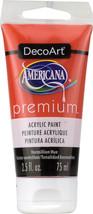 Americana Premium Acrylic Paint Tube 2.5oz-Vermillion Hue - $6.67