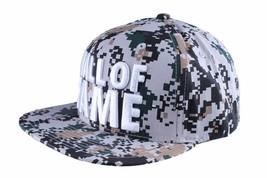 Hall Of Fame Chunk Heavy Embroidery Digi Camo Snapback Baseball Hat Cap NWT image 2