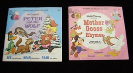 Disney Peter And The Wolf & Mother Goose Rhymes Book Record Kid Stuff  1... - $14.99