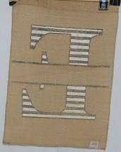 Kate Winston Brand Brown Burlap Monogram Black And White E Garden Flag image 2