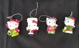 Hello Kitty 1976 2010 Sanrio Christmas Ornaments Lot of 4  - $18.74