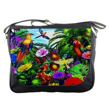 Messenger Bag Beautiful Butterfly And Bird Nature Design For Game Animation Fan - $30.00