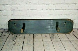 "Black Modern Country Style Painted 2 Peg Coat Rack 24""X5 1/2"" - $17.81"