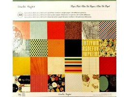 Crate Paper 12x12 Cardstock Paper Pad 48 Sheets, #680109