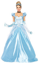 EXCELLENT WOMEN'S BLUE CINDERELLA HALLOWEEN COSTUME GOWN. SIZE LARGE - $69.95