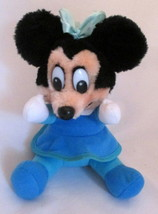 Minnie Mouse Doll Plush Walt Disney World Land Disneyland Toy Vintage - $9.89