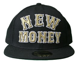 Rocksmith Team New Money 59FIFTY New Era Black Fitted Baseball Hat Cap image 1