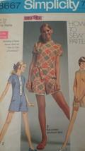 1969 Simplicity Pattern 8667 Teenage Junior Petite Size 7 Mini Pant Dres... - $7.08