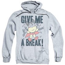 Mighty Mouse Give Me A Break retro cartoon superhero pullover hoodie CBS1587 image 1