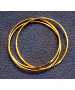 Avon Interlocking Bracelet set 3 BANGLES Bold Gleaming Gold Plated NEW w... - $19.75