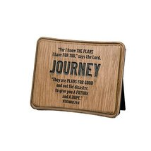 """Lighthouse Christian Products Wood Look Journey Plaque, 5 x 4"""", Brown - £23.30 GBP"""