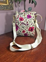 Coach Poppy Kyra Crossbody Bag Rare Floral Swing pack White   Pink 47317 B5 - $79.19